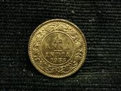 India, George V, 1/12th Anna 1933, EF, JAT567